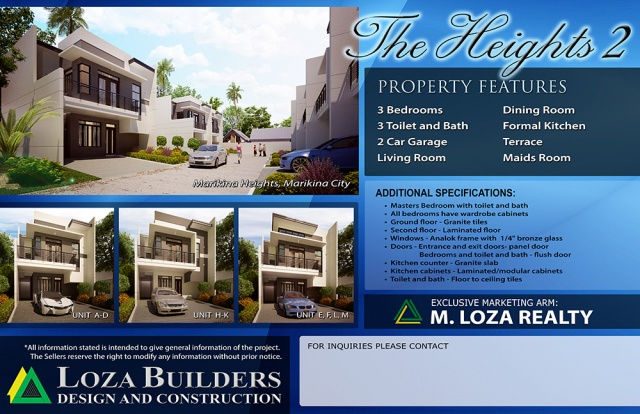 The Heights 2 – Single Attached House and Lot – Marikina Heights